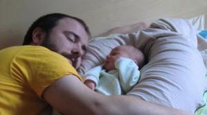 j'ai 4 jour, papa est déjà fatigué