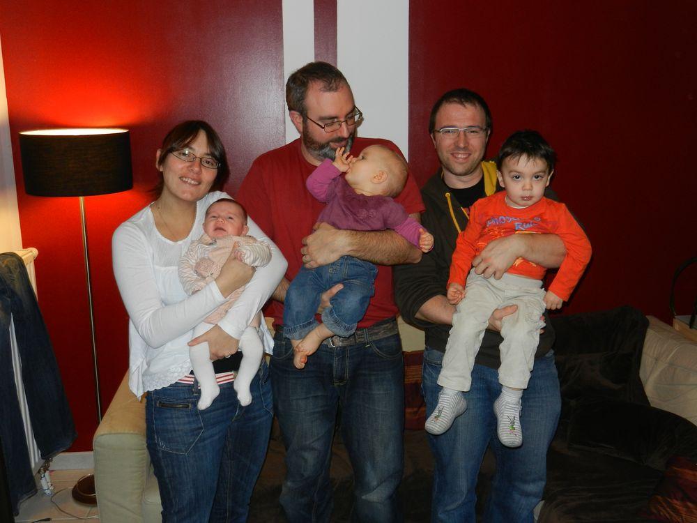 Séverine & Daphné, Vincent & Aurélie, Frédéric & Clément