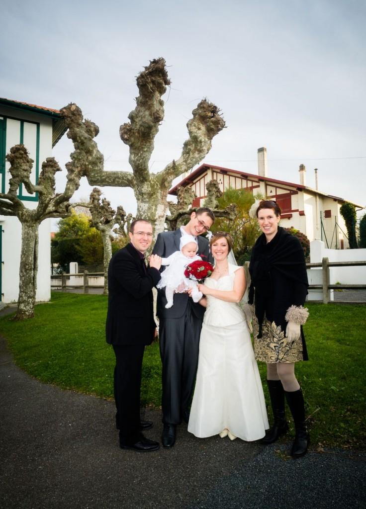 La Madle Family heureuse d'accompagner les jeunes mariés
