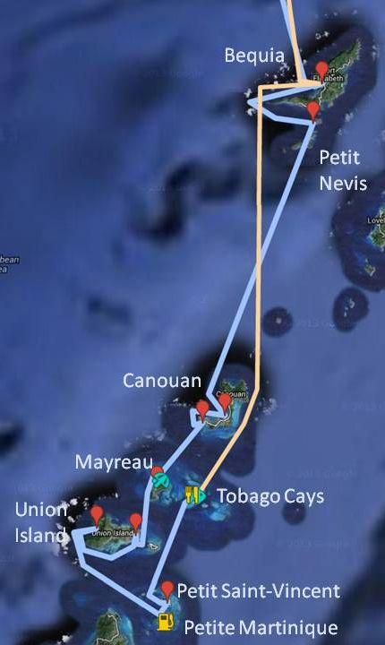 Zoom sur les Îles Grenadines